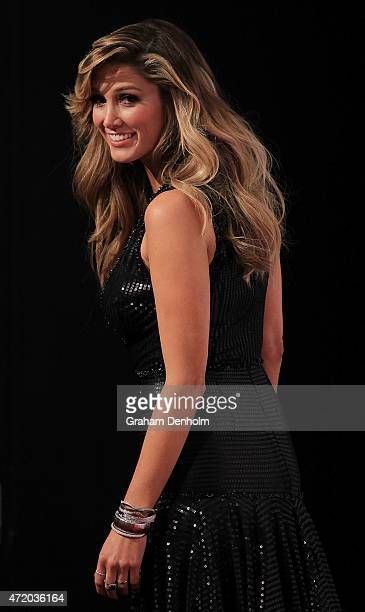 Delta Goodrem arrives at the 57th Annual Logie Awards at Crown Palladium on May 3 2015 in Melbourne Australia
