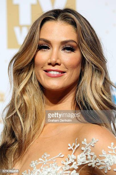 Delta Goodrem arrives at the 58th Annual Logie Awards at Crown Palladium on May 8 2016 in Melbourne Australia