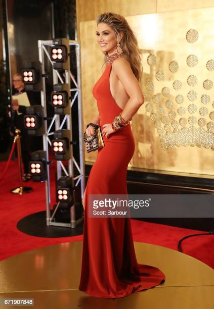 Delta Goodrem arrives at the 59th Annual Logie Awards at Crown Palladium on April 23 2017 in Melbourne Australia