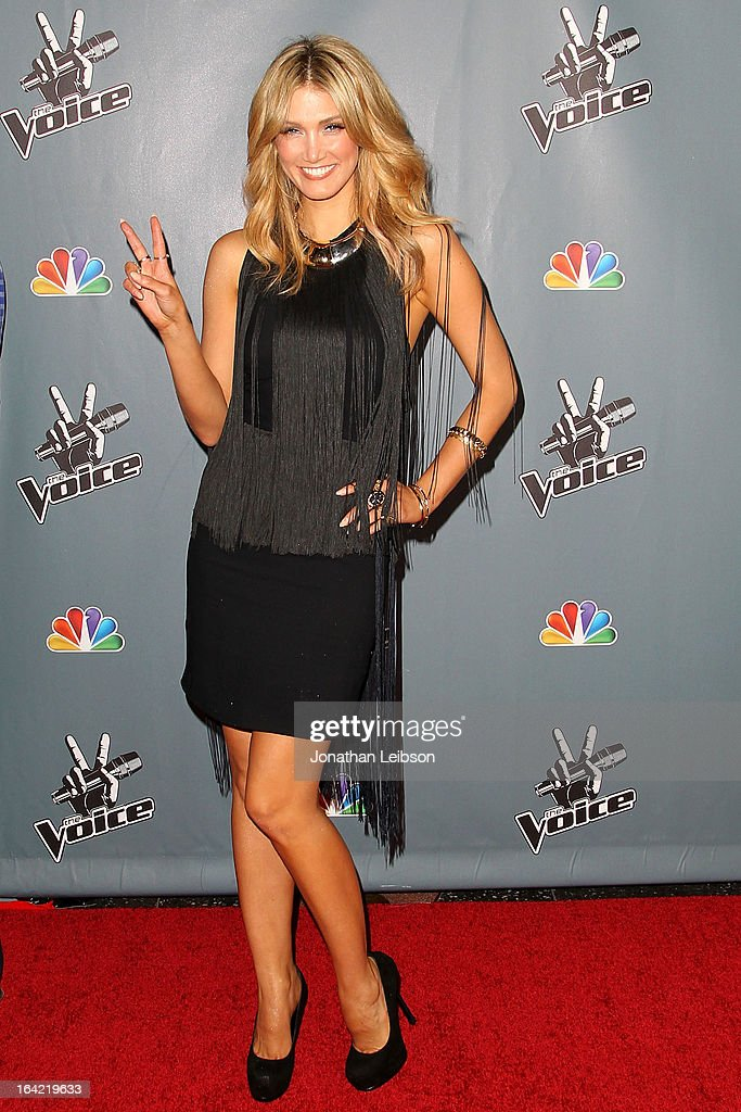 Delta Goodrem attends the NBC's 'The Voice' Season 4 Premiere at TCL Chinese Theatre on March 20, 2013 in Hollywood, California.
