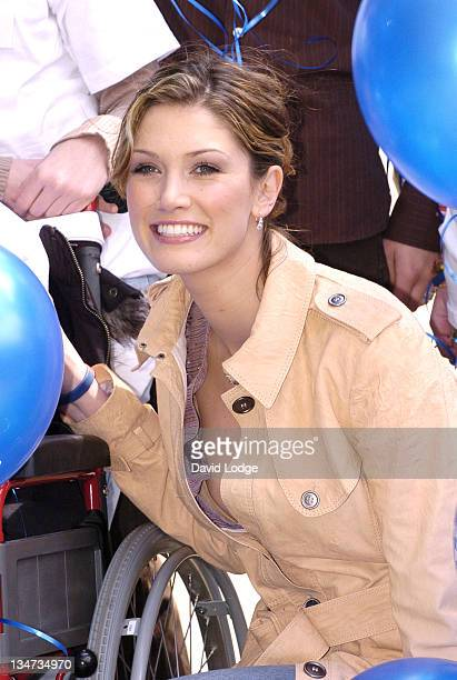 Delta Goodrem during CancerBACUP Website Launch Photocall in London Great Britain