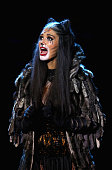 Delta Goodrem performs a scene from CATS during the CATS media call at Regent Theatre on December 18 2015 in Melbourne Australia