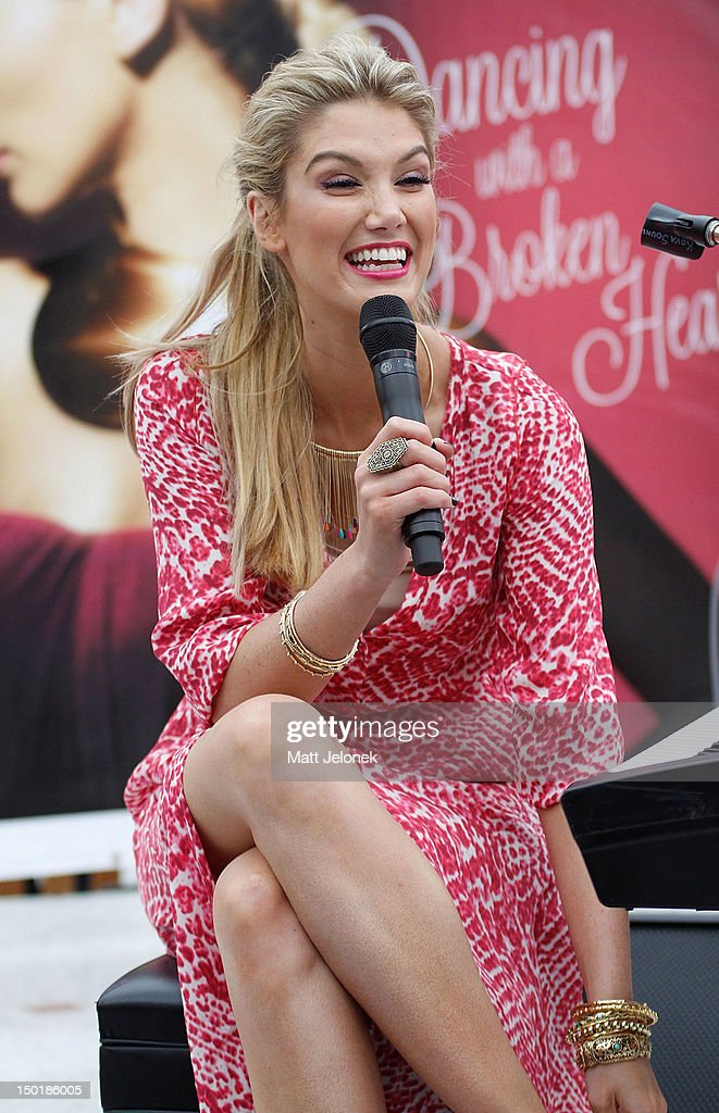Delta Goodrem performs at an instore signing and performance at Lakeside Joondalup Shopping City on August 12 2012 in Perth Australia