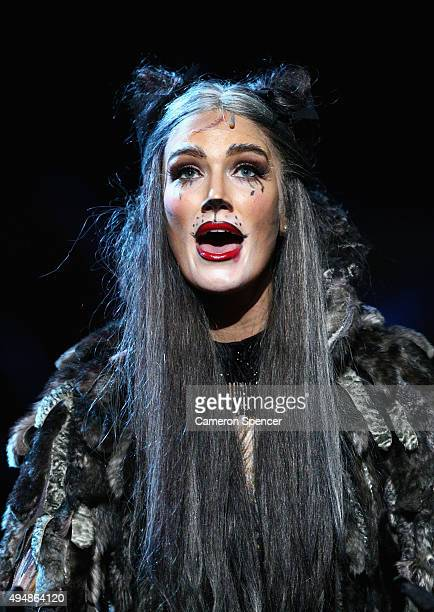 Delta Goodrem performs during a media call for CATS at Capitol Theatre on October 30 2015 in Sydney Australia