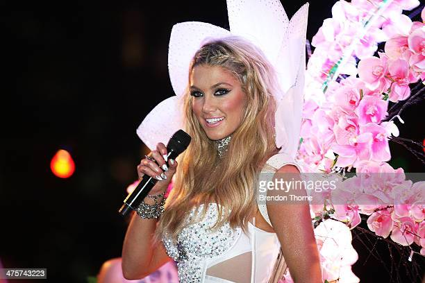 Delta Goodrem performs during the 2014 Sydney Gay Lesbian Mardi Gras Parade on March 1 2014 in Sydney Australia The Sydney Mardi Gras parade began in...