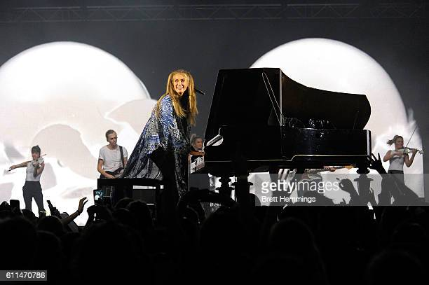 Delta Goodrem performs during the Nickelodeon Slimefest 2016 matinee show at Sydney Olympic Park Sports Centre on September 30 2016 in Sydney...