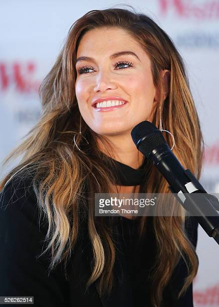 Delta Goodrem performs her new single 'Dear Life' at Westfield Hornsby on April 30 2016 in Sydney Australia
