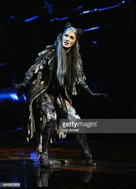 Delta Goodrem performs the role of 'Grizabella' during a CATS media call at Capitol Theatre on October 30 2015 in Sydney Australia
