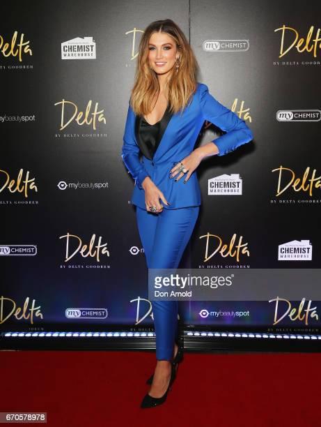 Delta Goodrem poses at the launch of Delta by Delta Goodrem on April 20 2017 in Sydney Australia