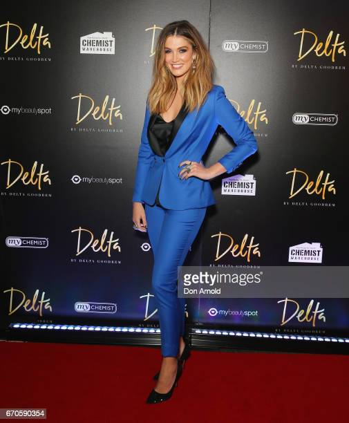 Delta Goodrem poses at the launch of Delta by Delta Goodrem on April 20 2017 in Sydney Australia
