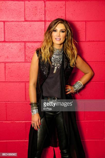 Delta Goodrem poses for a portrait backstage at he Footy Show Grand Final edition at Darling Harbour on September 28 2017 in Sydney Australia
