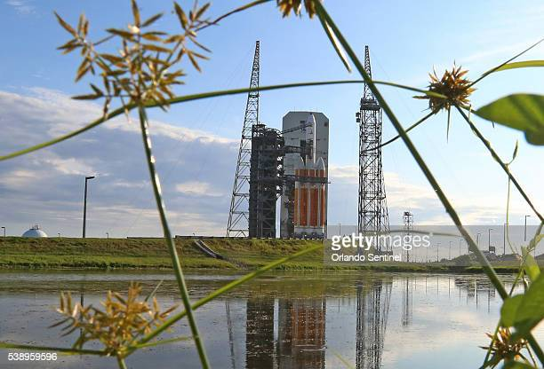 Delta IV Heavy rocket on June 9 2016 on Space launch Complex 37 at Cape Canaveral Air Force Station waits ready to launch today to support national...