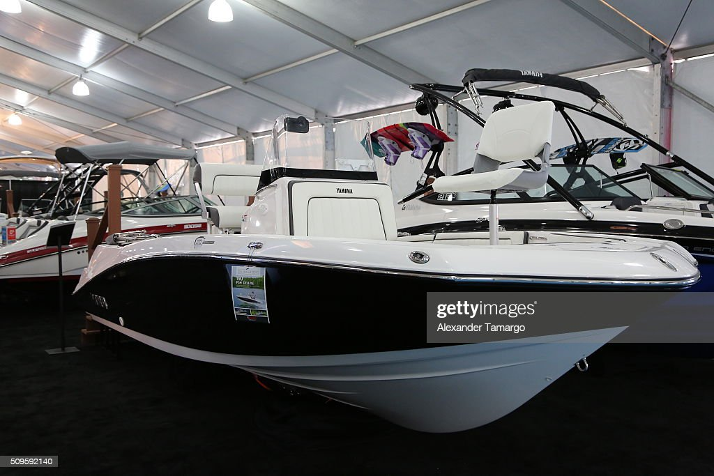 Deluxe at the Miami International Boat Show on February 11, 2016 in Miami, Florida.