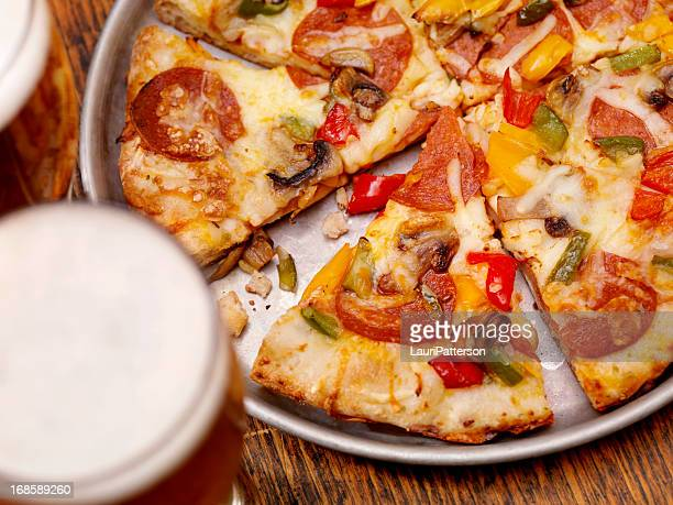 Deluxe Pizza and a Beer