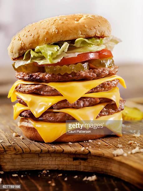 Deluxe Quadruple Cheeseburger