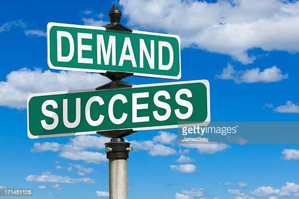 La demande de succès Street