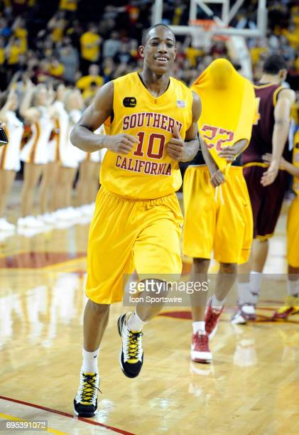 DeMar DeRozan during a college basketball game between the Arizona State Sun Devils and the USC Trojans played at the Galen Center in Los Angeles CA