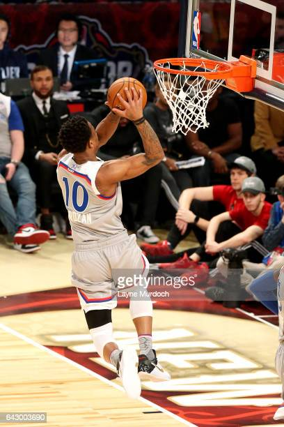DeMar DeRozan of the Eastern Conference AllStar Team dunks the ball during the NBA AllStar Game as part of the 2017 NBA All Star Weekend on February...