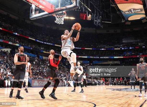 DeMar DeRozan of the Eastern Conference AllStars dunks during the NBA AllStar Game as part of the 2017 NBA All Star Weekend on February 19 2017 at...