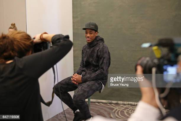 DeMar DeRozan of the Toronto Raptors poses for a photo during the 2017 AllStar Media Circuit at the Ritz Carlton on February 16 2017 in New Orleans...