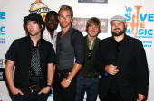 De'Mar Hamilton Tom Higgenson Tim Lopez Dave Tirio and Mike Retondo attend the Plain White T's Bowl to benefit the VH1 Save The Music Foundation at...