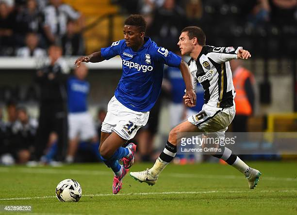 Demarai Gray of Birmingham City battles with Liam Noble of Notts County during the Pre Season Friendly match between Notts County and Birmingham City...