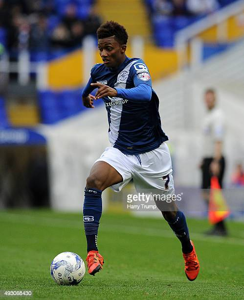 Demarai Gray of Birmingham City during the Sky Bet Championship match between Birmingham City and Queens Park Rangers at St Andrews on October 17...