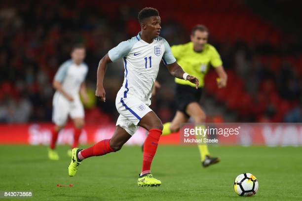 Demarai Gray of England U21's during the UEFA Under 21 Championship Qualifier match between England and Latvia at the Vitality Stadium on September 5...