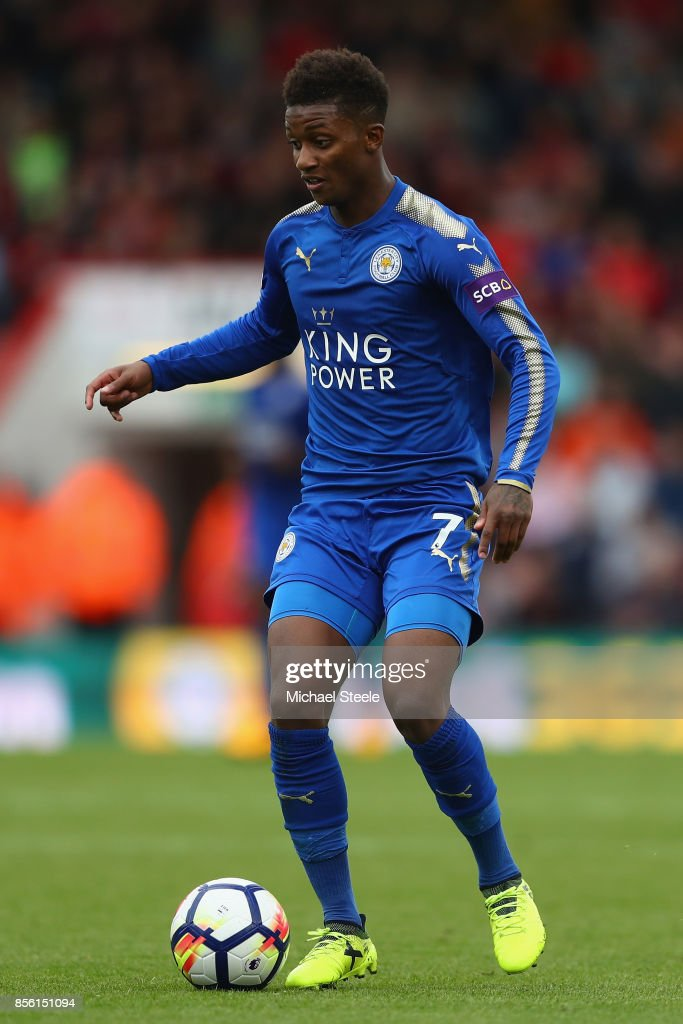 Demarai Gray of Leicester City during the Premier League match between AFC Bournemouth and Leicester City at Vitality Stadium on September 30, 2017 in Bournemouth, England.