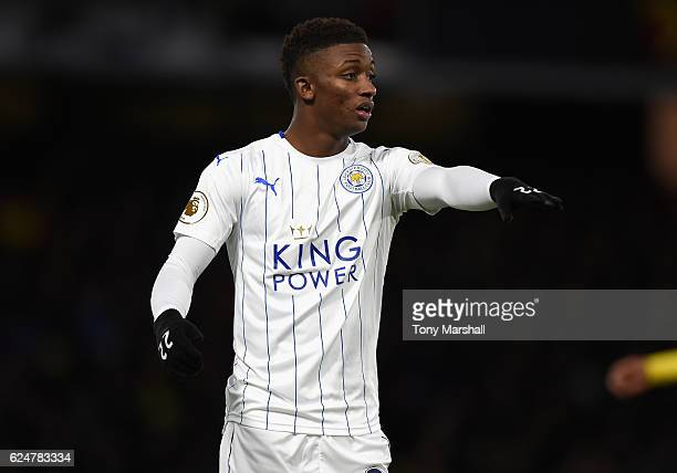 Demarai Gray of Leicester City during the Premier League match between Watford and Leicester City at Vicarage Road on November 19 2016 in Watford...