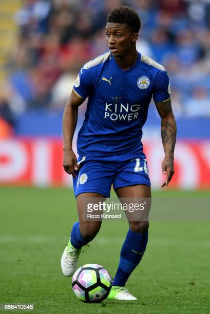 Demarai Gray of Leicester City in action during the Premier League match between Leicester City and AFC Bournemouth at The King Power Stadium on May...