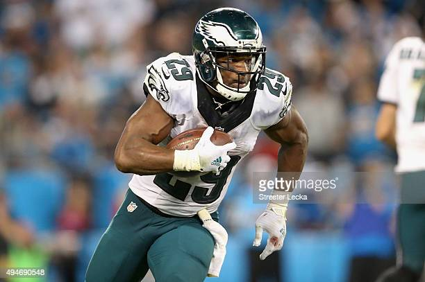 DeMarco Murray of the Philadelphia Eagles during their game at Bank of America Stadium on October 25 2015 in Charlotte North Carolina