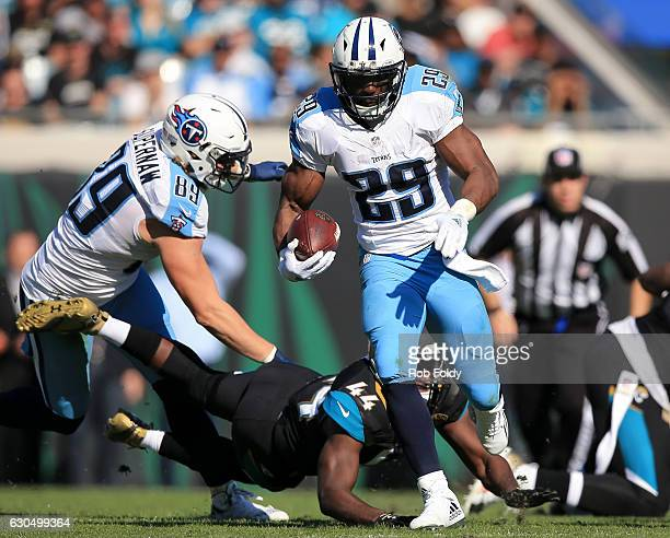 DeMarco Murray of the Tennessee Titans in action during the first half of the game against the Jacksonville Jaguars at EverBank Field on December 24...