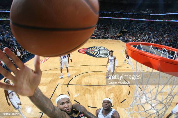 DeMarcus Cousins of the New Orleans Pelicans dunks against the Sacramento Kings on December 8 2017 at Smoothie King Center in New Orleans Louisiana...