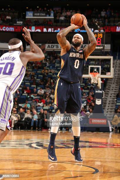 DeMarcus Cousins of the New Orleans Pelicans shoots the ball against the Sacramento Kings on December 8 2017 at Smoothie King Center in New Orleans...