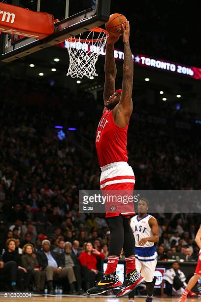 DeMarcus Cousins of the Sacramento Kings and the Western Conference goes up for a dunk in the second half against the Eastern Conference during the...