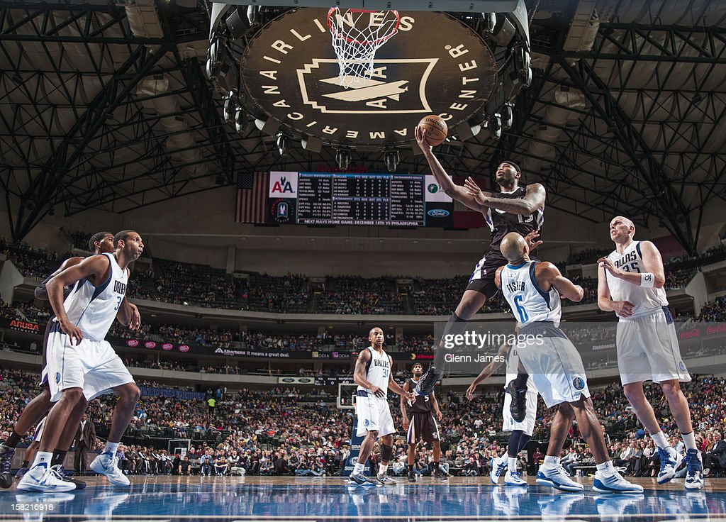 <a gi-track='captionPersonalityLinkClicked' href=/galleries/search?phrase=DeMarcus+Cousins&family=editorial&specificpeople=5792008 ng-click='$event.stopPropagation()'>DeMarcus Cousins</a> #15 of the Sacramento Kings drives to the basket against the Dallas Mavericks on December 10, 2012 at the American Airlines Center in Dallas, Texas.