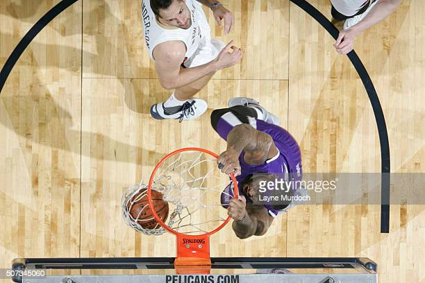 DeMarcus Cousins of the Sacramento Kings dunks against the New Orleans Pelicans on January 28 2016 at the Smoothie King Center in New Orleans...