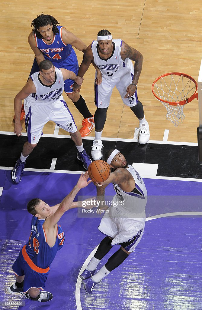 <a gi-track='captionPersonalityLinkClicked' href=/galleries/search?phrase=DeMarcus+Cousins&family=editorial&specificpeople=5792008 ng-click='$event.stopPropagation()'>DeMarcus Cousins</a> #15 of the Sacramento Kings goes after the rebound against <a gi-track='captionPersonalityLinkClicked' href=/galleries/search?phrase=Steve+Novak&family=editorial&specificpeople=693015 ng-click='$event.stopPropagation()'>Steve Novak</a> #16 of the New York Knicks on December 28, 2012 at Sleep Train Arena in Sacramento, California.