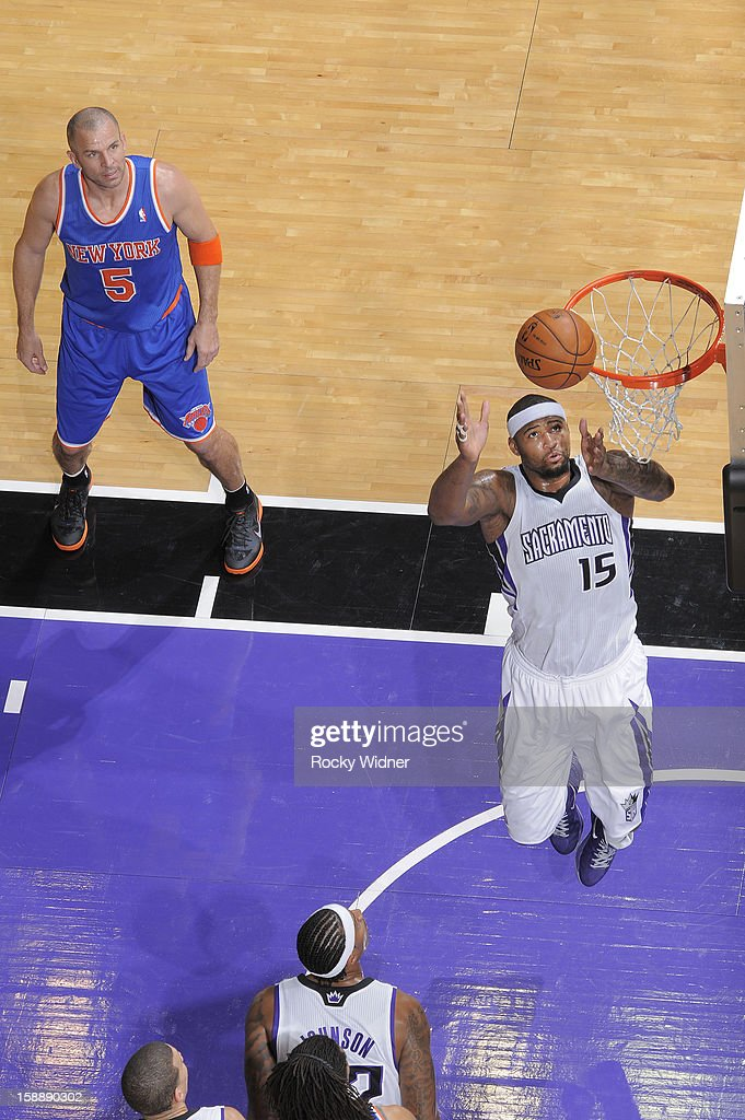<a gi-track='captionPersonalityLinkClicked' href=/galleries/search?phrase=DeMarcus+Cousins&family=editorial&specificpeople=5792008 ng-click='$event.stopPropagation()'>DeMarcus Cousins</a> #15 of the Sacramento Kings goes after the rebound against the New York Knicks on December 28, 2012 at Sleep Train Arena in Sacramento, California.