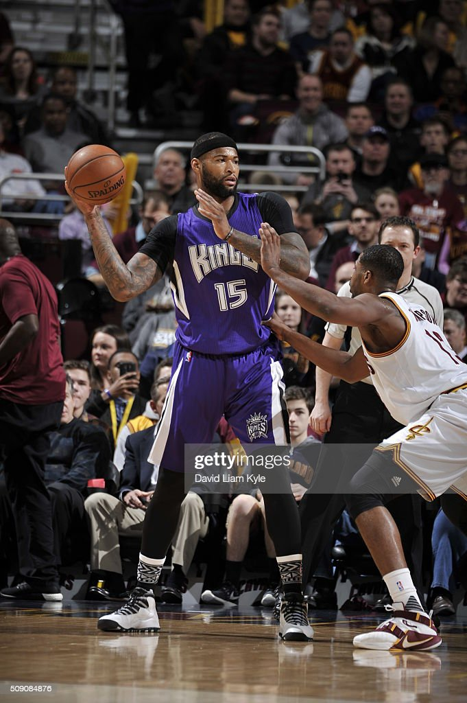 <a gi-track='captionPersonalityLinkClicked' href=/galleries/search?phrase=DeMarcus+Cousins&family=editorial&specificpeople=5792008 ng-click='$event.stopPropagation()'>DeMarcus Cousins</a> #15 of the Sacramento Kings handles the ball against the Cleveland Cavaliers on February 8, 2016 at Quicken Loans Arena in Cleveland, Ohio.