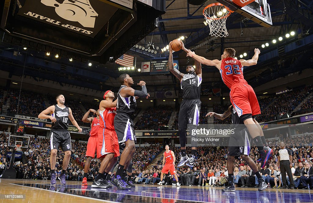 <a gi-track='captionPersonalityLinkClicked' href=/galleries/search?phrase=DeMarcus+Cousins&family=editorial&specificpeople=5792008 ng-click='$event.stopPropagation()'>DeMarcus Cousins</a> #15 of the Sacramento Kings in a game against the Los Angeles Clippers on November 1, 2013 at Sleep Train Arena in Sacramento, California.