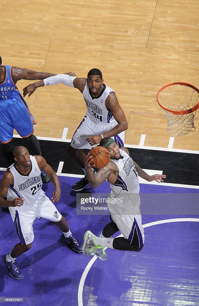 <a gi-track='captionPersonalityLinkClicked' href=/galleries/search?phrase=DeMarcus+Cousins&family=editorial&specificpeople=5792008 ng-click='$event.stopPropagation()'>DeMarcus Cousins</a> #15 of the Sacramento Kings rebounds against the Oklahoma City Thunder on April 8, 2014 at Sleep Train Arena in Sacramento, California.