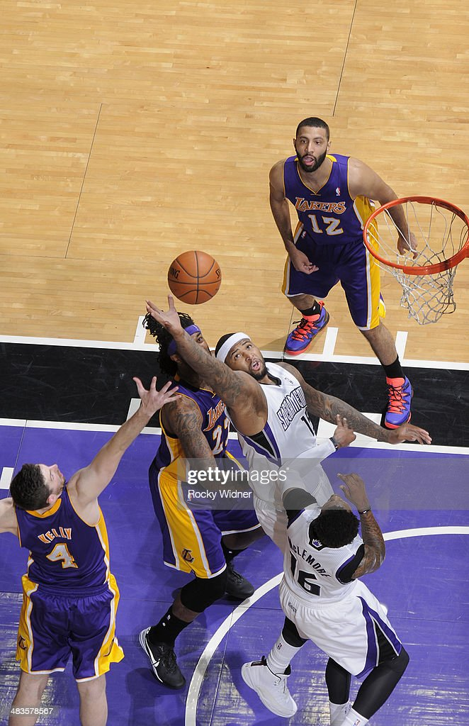 <a gi-track='captionPersonalityLinkClicked' href=/galleries/search?phrase=DeMarcus+Cousins&family=editorial&specificpeople=5792008 ng-click='$event.stopPropagation()'>DeMarcus Cousins</a> #15 of the Sacramento Kings rebounds against the Los Angeles Lakers on April 2, 2014 at Sleep Train Arena in Sacramento, California.