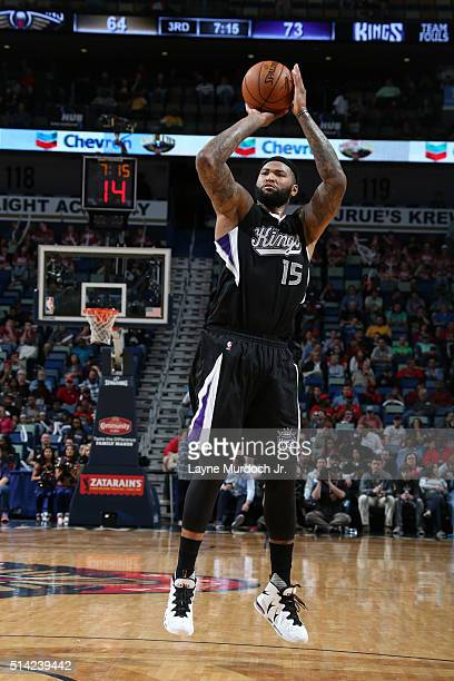 DeMarcus Cousins of the Sacramento Kings shoots against the New Orleans Pelicans rleans Louisiana NOTE TO USER User expressly acknowledges and agrees...