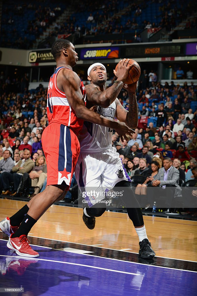 <a gi-track='captionPersonalityLinkClicked' href=/galleries/search?phrase=DeMarcus+Cousins&family=editorial&specificpeople=5792008 ng-click='$event.stopPropagation()'>DeMarcus Cousins</a> #15 of the Sacramento Kings shoots the ball against the Washington Wizards on January 16, 2013 at Sleep Train Arena in Sacramento, California.