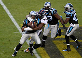 DeMarcus Ware of the Denver Broncos sacks Cam Newton of the Carolina Panthers during the second quarter of Super Bowl 50 at Levi's Stadium on...
