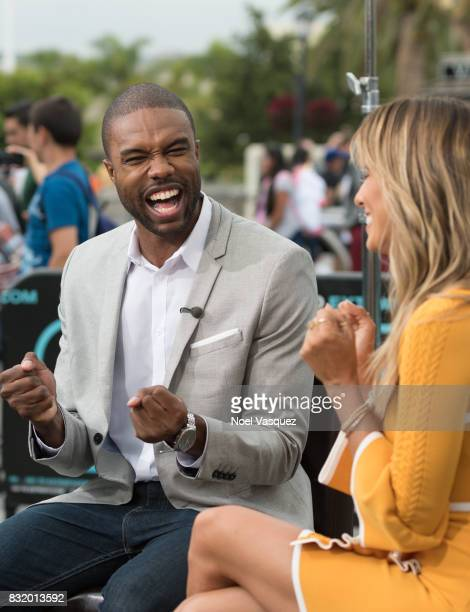 DeMario Jackson visits 'Extra' at Universal Studios Hollywood on August 15 2017 in Universal City California