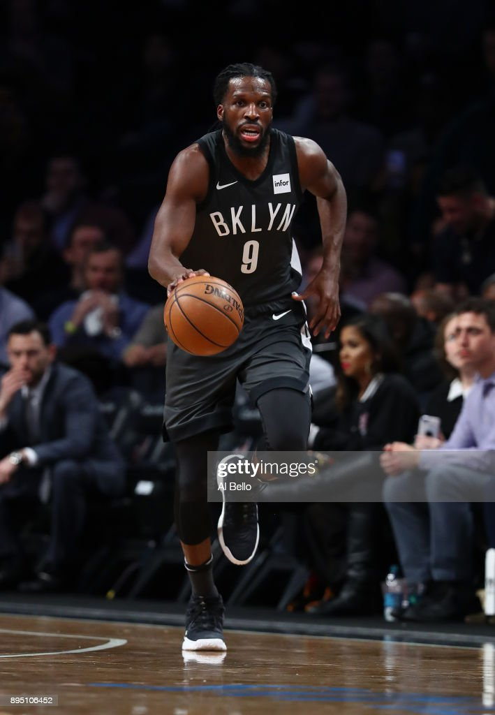 DeMarre Carroll #9 of the Brooklyn Nets in action against the Washington Wizards during their game at Barclays Center on December 12, 2017 in the Brooklyn Borough of New York City.