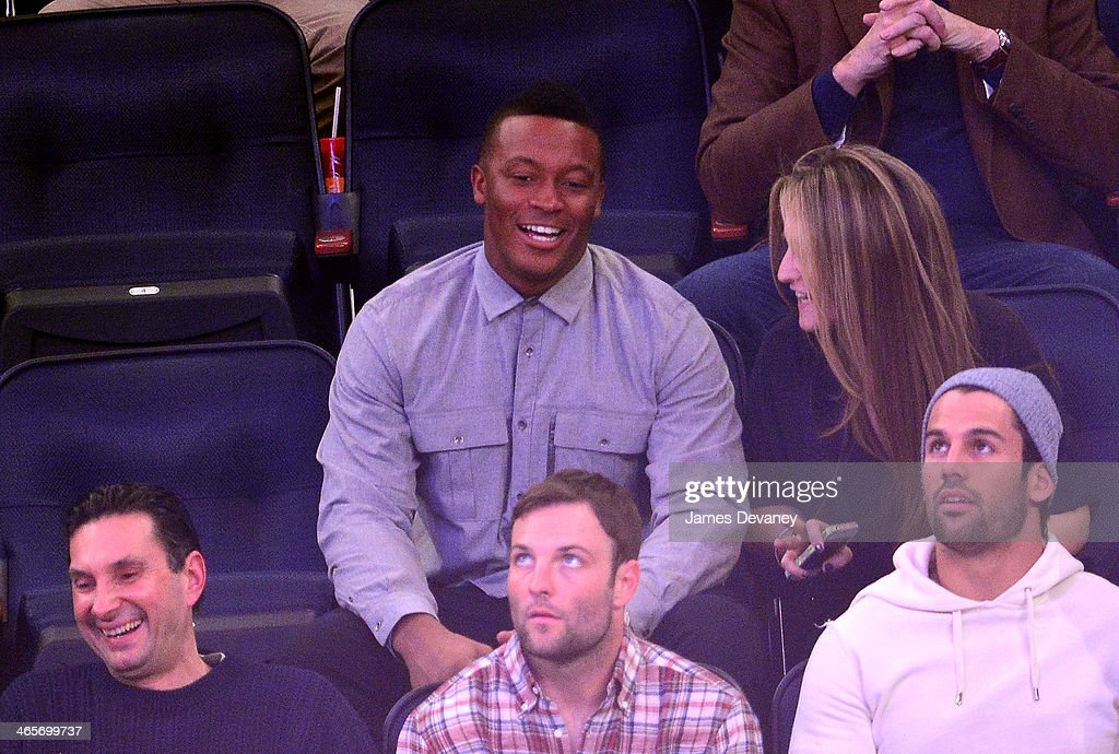 <a gi-track='captionPersonalityLinkClicked' href=/galleries/search?phrase=Demaryius+Thomas&family=editorial&specificpeople=4536795 ng-click='$event.stopPropagation()'>Demaryius Thomas</a> attends the Boston Celtics vs New York Knicks game at Madison Square Garden on January 28, 2014 in New York City.